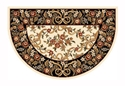 Picture of Ivory & Black Floral Hearth Rug