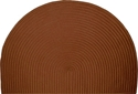 Picture of Half-Round Braided Polypropylene Hearth Rug - Chocolate Solid Color Braided
