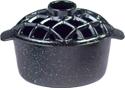 Picture of 2.2 Qt. Lattice Steamer Black Enamel